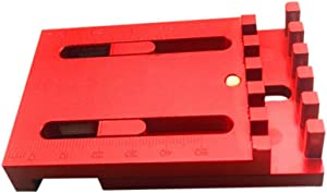 Wenjuan--Home&Garden Wood Tenon Measuring Tool (T1) (T2) Woodworking Gaps Gauge Depth Measuring Ruler Line Sawtooth Ruler Marking Tool (T1)