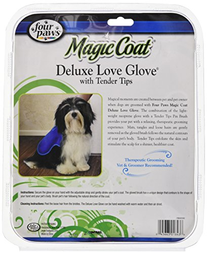 Four Paws Magic Coat Dog Grooming Deluxe Love Glove With Tender Tips by Four Paws (Image #2)