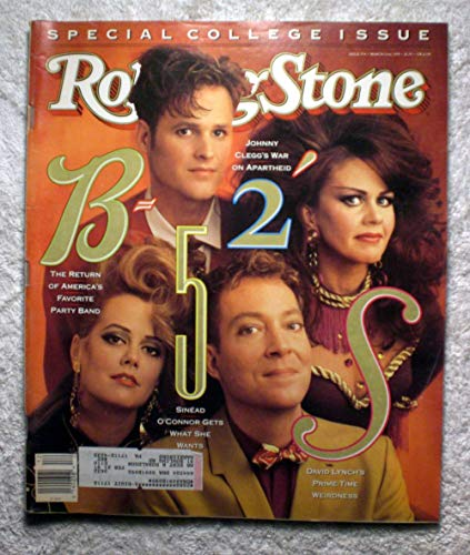 The B-52s - The Return of America's Favorite Party Band - Rolling Stone Magazine - #574 - March 22, 1990 - Johnny Clegg, David Lynch -