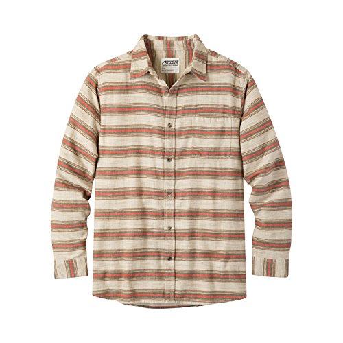 Mountain Khakis Mens Lundy Flannel Shirt, Cream, Small (Flannel Shirt 5 Oz)