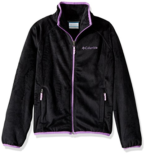 Columbia Big Girls' Pearl Plush Full Zip Jacket, Black, Medium