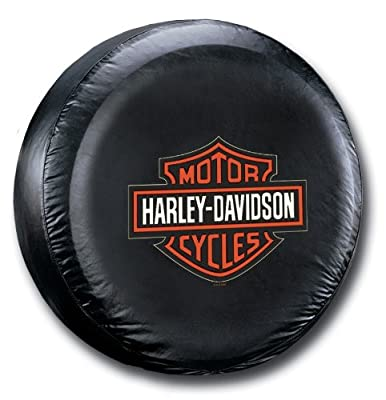 Harley-Davidson Tire Cover Orange B&S