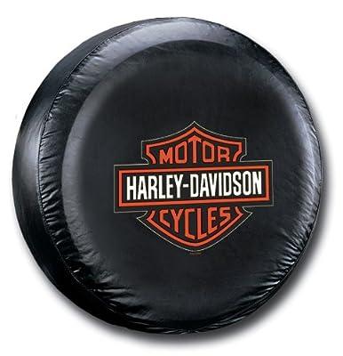 Harley-Davidson Tire Cover Orange B&S