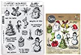 Tim Holtz Tattered Christmas - Stampers Anonymous Cling Stamps and Sizzix Framelits Die Set