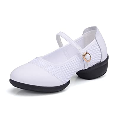 Tango Ballroom Latin Dance Shoes Leather Strap with Soft and eathable for Children and Women   B06XZSBFJG
