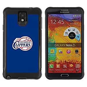 King Case@ LA Clipper Basketball Rugged hybrid Protection Impact Case Cover For Note 3 Case ,N9000 Leather Case ,Leather for Note 3 ,Case for Note 3 ,Note 3 case