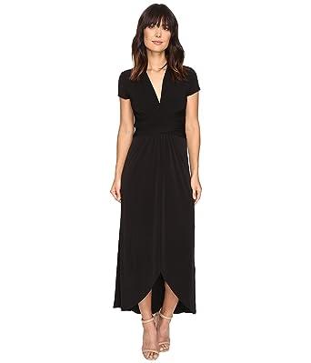 b2e99d0e6d0 Amazon.com  Michael Michael Kors High-Low Faux-Wrap Dress