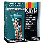 GROCERY  Amazon, модель KIND Bars, Dark Chocolate Nuts & Sea Salt, Gluten Free, Low Sugar, 1.4oz, 12 Count, артикул B007PE7ANY