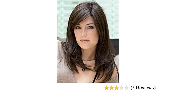 Amazon.com : 100% Real Hair! Long Straight Wig Natural Dark brown Human Hair Wigs : Beauty