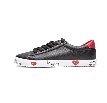 Ladies Simple Lace Sports Shoes étudiant Casual Chaussures De Skate
