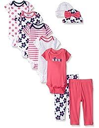 Baby Girls' 9 Piece Playwear Bundle