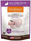 Instinct Limited Ingredient Diet Grain Free Real Rabbit Recipe Natural Wet Cat Food Topper by Nature's Variety, 3 oz. Pouches (Case of 24)