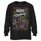 iron man logo shirt - Comics Logo Thor Hulk Iron Man Avengers Spiderman Daredevil Strange Loki Thanos Adult Mens Graphic Long Sleeve Shirt (Black, XXX-Large)