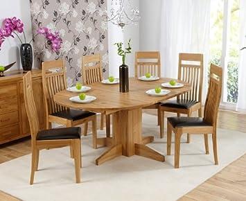 seconique-tavolo estensibile, in legno di quercia per tavolo ... - Tavolo Cucina Rotondo