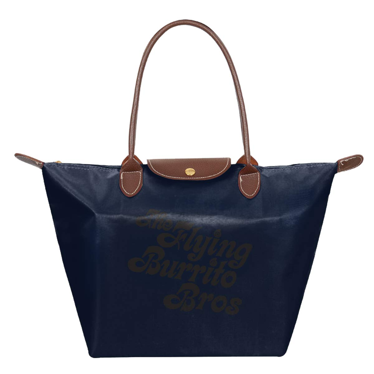 The Flying Burrito Brothers Waterproof Leather Folded Messenger Nylon Bag Travel Tote Hopping Folding School Handbags