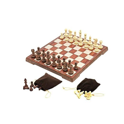 WJMLS Juego de ajedrez Piezas de ajedrez magnéticas Tablero de ...