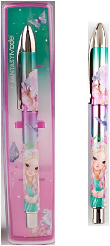 Top Model – Estuche con 1 bolígrafo Fantasy Unicornio – Rosa Verde mariposas flores: Amazon.es: Oficina y papelería