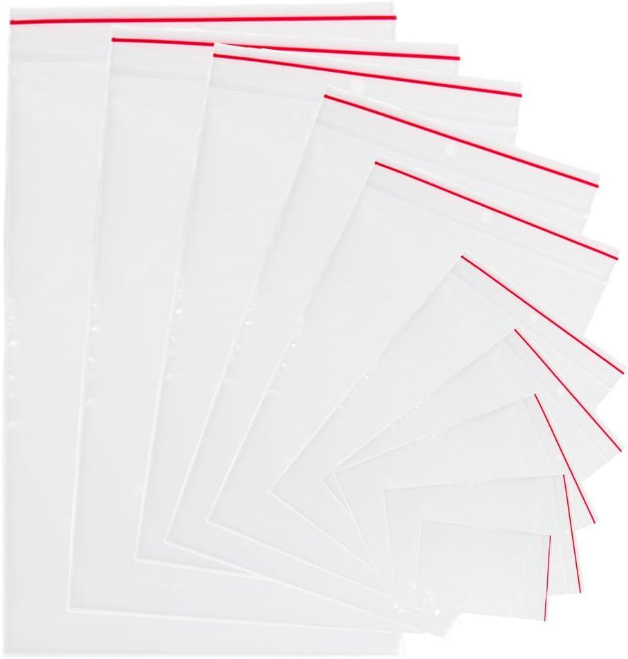 Bolsas de plástico trasparente con cierre resellable, de polietileno, 1 paquete de 100 unidades 30 x 40 cm