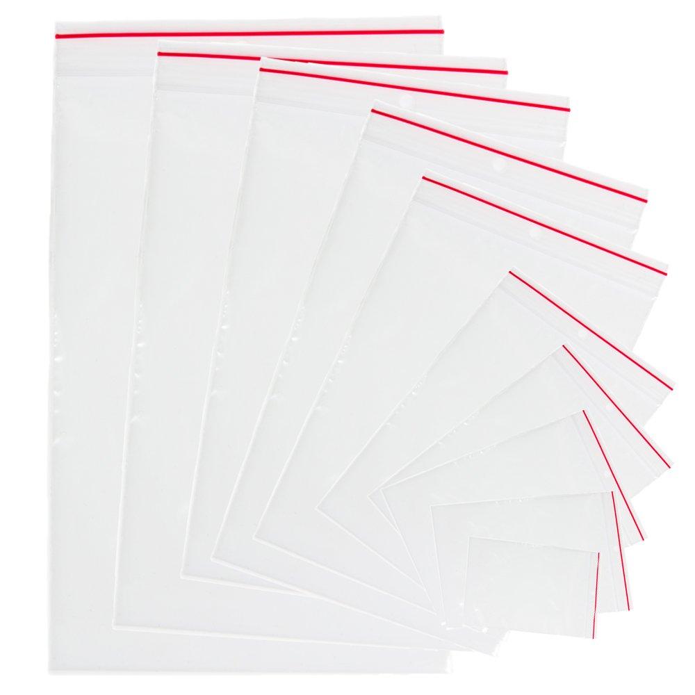 1 paquete de 100 unidades 25x35cm de polietileno Bolsas de pl/ástico trasparente con cierre resellable