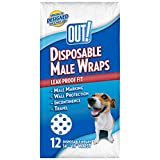 New Title: OUT! Disposable Male Dog Diapers   Absorbent Male Wraps with Leak Protection   Excitable Urination, Incontinence, or Male Marking