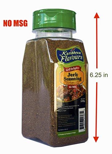 Premium Jamaican Jerk Seasoning - Grill delights, No MSG, 320g/11.5 Oz. (Jerk Seasoning Mild, 320gr) (Jerk Rub)