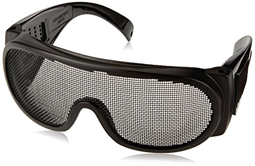 Crossfire 19218 Wire Mesh Safety Glasses - Matte Black Frame