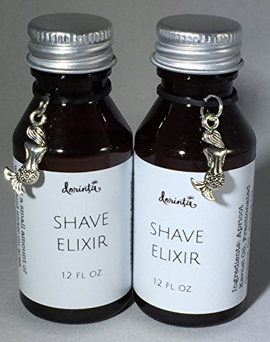 Luxurious Unisex Shaving Oil . All Natural Hand Formulated Aromatherapy Ocean Bliss Shaving Oils by Dorinta. Soft Close Razor Bump Free Womens and Mens Shave Secret (Set of Two 1.2 fl. oz. - Shave Bottle
