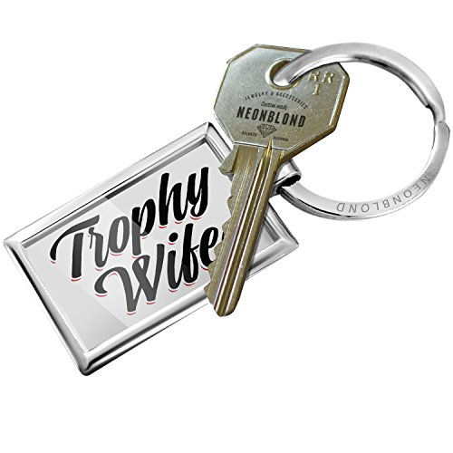 NEONBLOND Keychain Vintage Lettering Trophy Wife