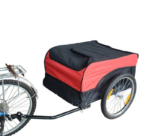 Associated product image for Aosom Bike Cargo Trailer Bicycle Luggage Carrier Cart
