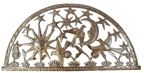 Haitian Metal Art - Celestial Arch Sun Moon and Stars
