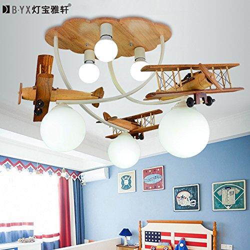 LTERD Holz Kinder Jungen Schlafzimmer Zimmer Lampe Lampe Lampe LED ...