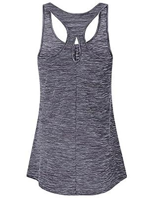 Vivilli Womens Sleeveless Athletic Sports Round Neck Activewear Racerback Workout Tank Tops