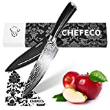 Chefeco Chef Knife - 8 inch Professional Knife-Sharp, German Stainless Steel, with Ergonomic G10 Handle in our Kitchen Knife is like in Military Models – free Case, polishing cloth & Stylish Gift Box
