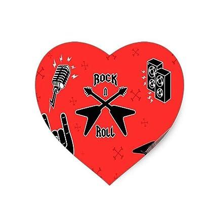 Amazon com : Rock Music Symbols Vector (Heart-Shaped) Mouse Pad 8 6