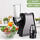 Professional Salad Maker Electric Slicer/Shredder with One-Touch Control and 4 Free Attachments for fruits, vegetables…