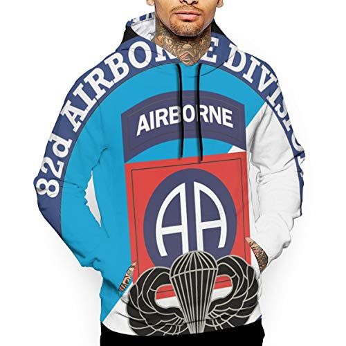 82nd Airborne Division with Jump Wings 3D Fashion Pullover Hoodies Sweatshirts Camouflage Clothing ()