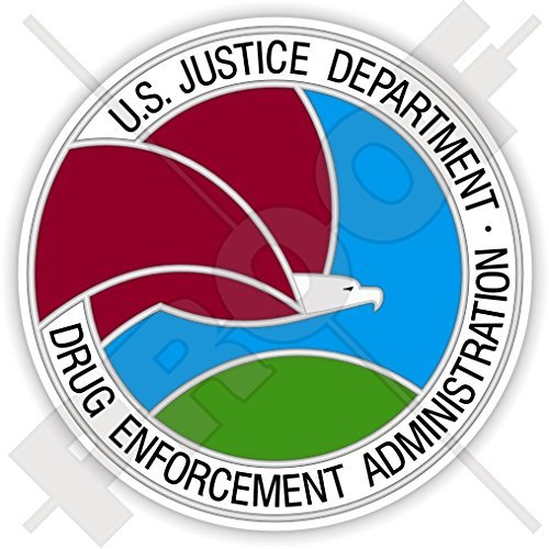 "US Justice Department DRUG ENFORCEMENT ADMINISTRATION Seal DEA USA America, American 90mm (3.5"") Vinyl Sticker, Decal"