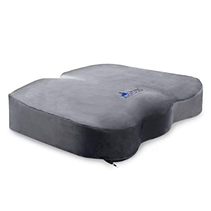 Desk Jockey Office Chair Seat Cushion Clinical Grade Orthopedic Sitting Pillow Non Slip Bottom Coccyx Sciatica Pain Relief Firm 150 To 250lbs