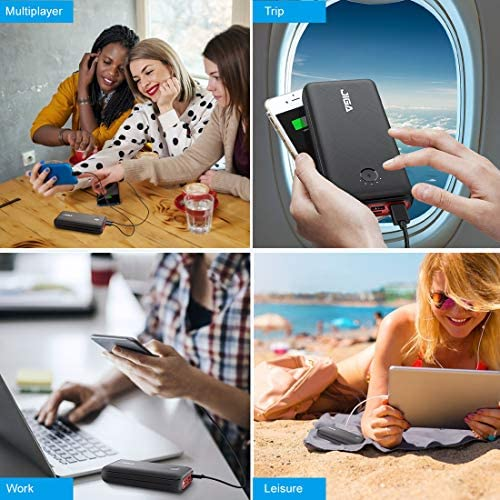 JIGA 30000mAh Portable Charger, Fast Charging USB C Power Bank with 3 Outputs & 3 Inputs & Flashlight, Ultra High Capacity External Battery Pack Compatible with iPhone, Samsung, iPad and many others.