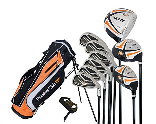 Founders Club The Judge Mens Complete Golf Club Package Set for Men with Graphite and Steel and Stand Bag for Right Hand ()