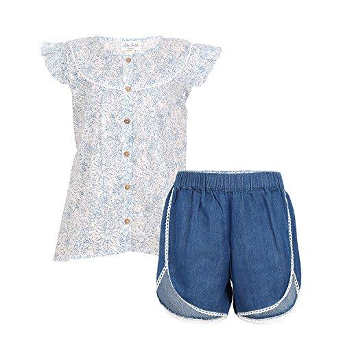 Price comparison product image Organic Toddler Girls Short-Shirt Set By [Zahi Organics] -100% Organic Cotton