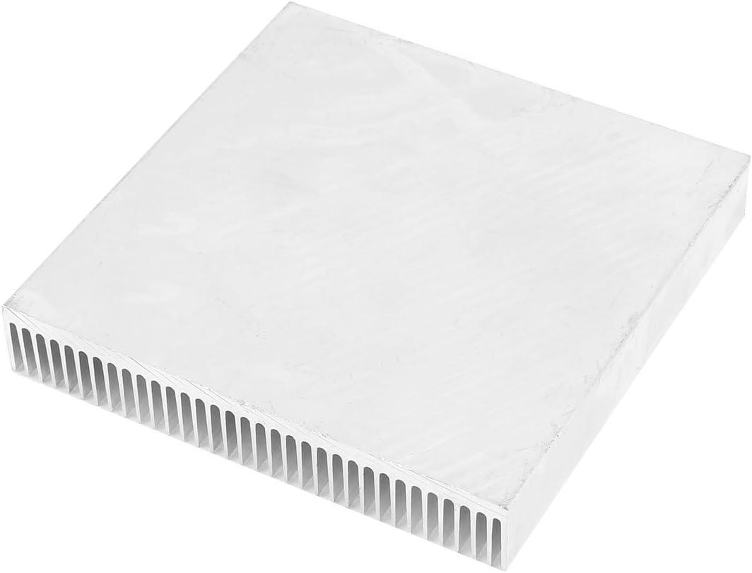 Silver Tone Aluminum Radiator Heat Sink Heatsink 90mm x 90mm x 15mm