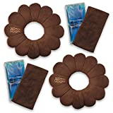 Total Pillow Microbead Portable Pillow - Use at Home or On The Go to Support Your Neck, Back and Knees, Set of 2 in Brown