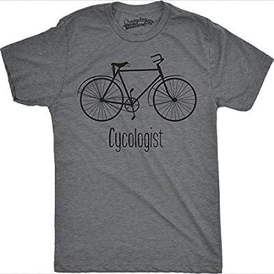 Crazy Dog T-Shirts Mens Cycologist Funny Psychology Biking Cyclist Pun Biker Tee T Shirt