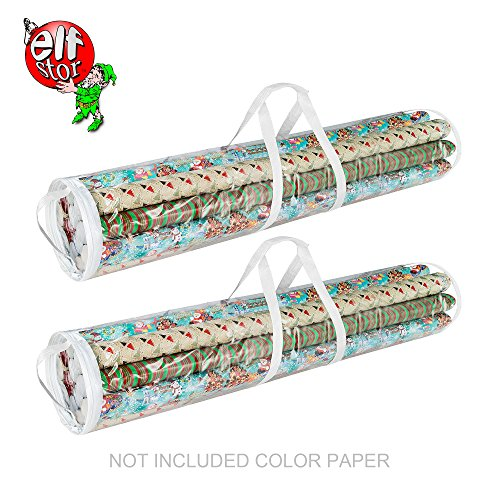 "Elf Stor 83-DT5054 1076 Paper and Gift Wrap Storage Bag for 40"" Rolls, Clear"