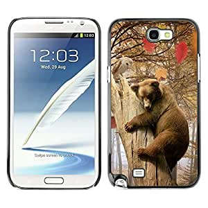YOYO Slim PC / Aluminium Case Cover Armor Shell Portection //Bear & Owl Forrest Friends //Samsung Note 2Kimberly Kurzendoerfer