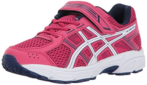 Price comparison product image ASICS Unisex-Kids Pre-Contend 4 PS Running-Shoes, Cosmo Pink/White/Indigo Blue, K11 Medium US Little Kid