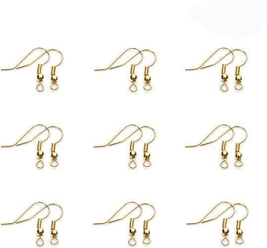 BeadaholiqueCA 50-Piece Fishhooks Earring Hooks Silver