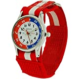 Reflex Time Teacher Red & White Easy Fasten Boys Girls Childrens Watch REFK0002