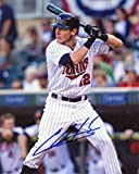 CHRIS HERMANN AT BAT MINNESOTA TWINS SIGNED AUTOGRAPHED 8X10 PHOTO W/ COA